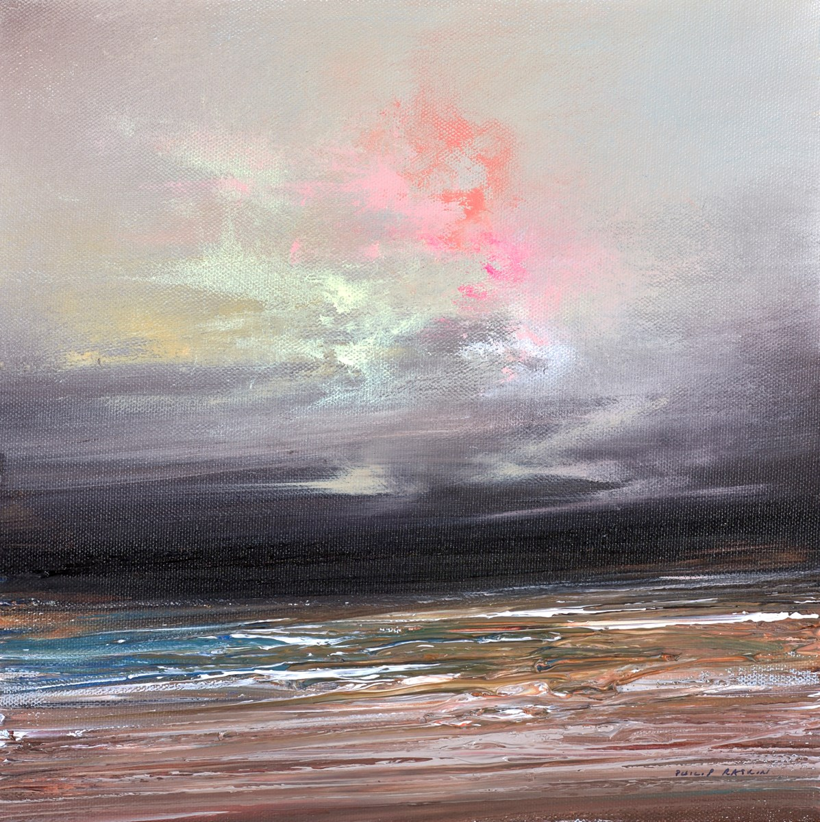The Sun Breaks Through V by philip raskin -  sized 12x12 inches. Available from Whitewall Galleries